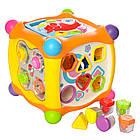 Музыкальная игра Hola Toys 936 Волшебный кубик, сортер, пищалка, трещетка, фото 3