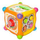Музыкальная игра Hola Toys 936 Волшебный кубик, сортер, пищалка, трещетка, фото 5