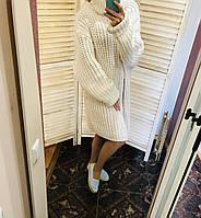 Платье свитер zara вязаный объемный, фото 1