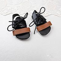 Обувь для кукол Сандали 6.8*3.2 см ЧЕРНО-КОРИЧНЕВЫЕ