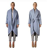 Кашемировое пальто стильное длинное