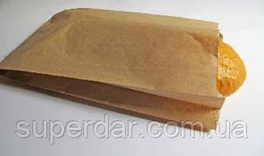 Пакет для хліба, крафт бурий, 40 г/м2, 350х220х50 (1ящ. = 1000 шт)