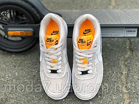Кроссовки женские подростковые серые Nike Air Force реплика, фото 3