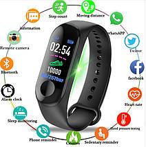 Фитнес-часы М3 аналог mi band 3, треккер, сенсорные фитнес часы, фото 2