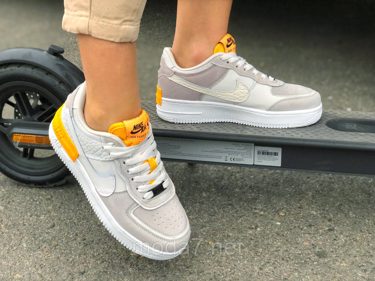 Кроссовки женские подростковые серые Nike Air Force реплика