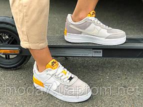 Кроссовки женские подростковые серые Nike Air Force реплика, фото 2
