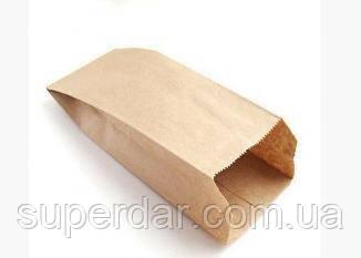 Пакет для хлеба, крафт бурый, 40 г/м2, 380х220х50 (1ящ. = 1000 шт)