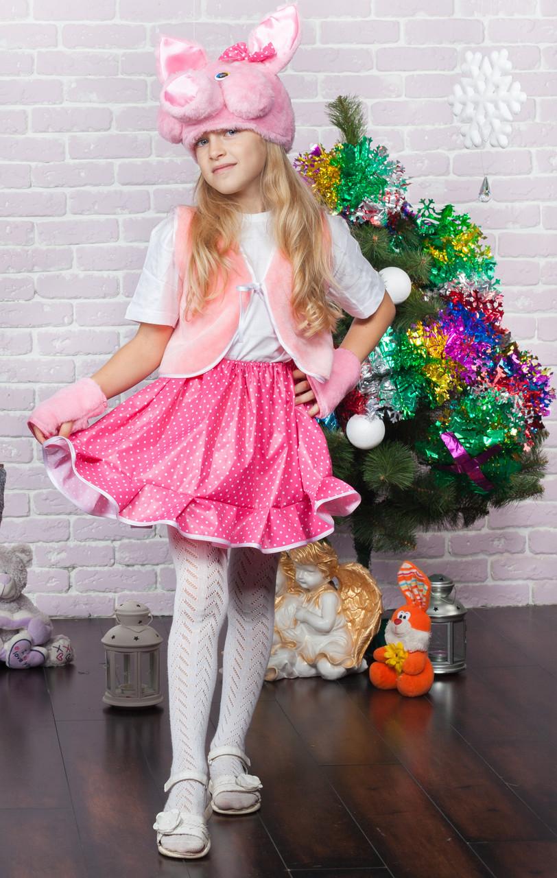 Детский новогодний костюм хрюшки для девочки