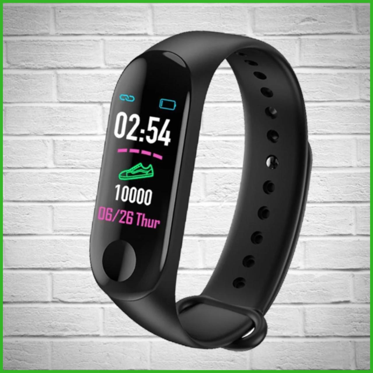 Фитнес-часы М3 аналог mi band 3, треккер, сенсорные фитнес часы