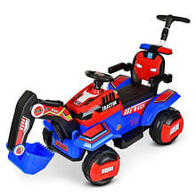 Трактор детский Электромобиль 4321BLR с подвижным ковшом ручкой