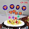 """Топперы в торт """"Супермен"""", 10 шт"""