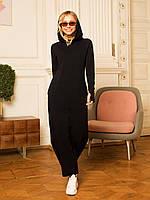 Женское теплое свободное платье с трехнитки