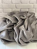 Плюшевый чехол на кушетку 87 см на 210 см - серый (махра)