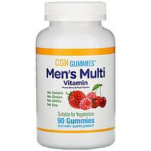 """Вітаміни для чоловіків CGN, Gummies """"men's Multi Vitamin"""" ягідно-фруктові (90 жувальних таблеток)"""