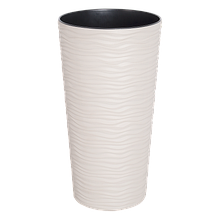 Вазон Фьюжн 22*41,5 см белая роза объем 5 л