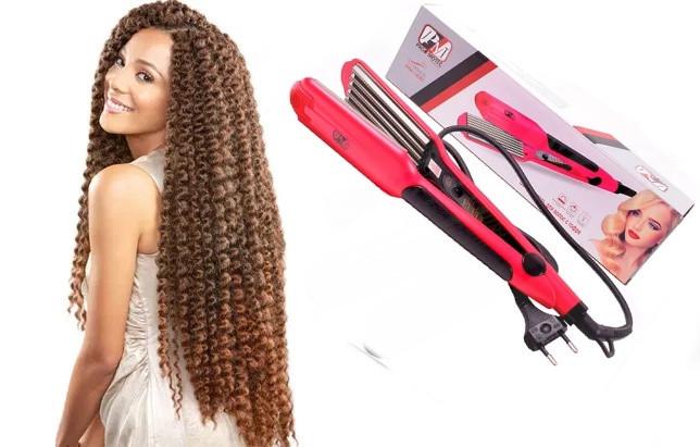 Плойка-гофре для волос Promotec PM-1221.Утюжок щипцы для волос