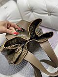 Сумка женская экокожа мод 0232 рептилия мокко, фото 7