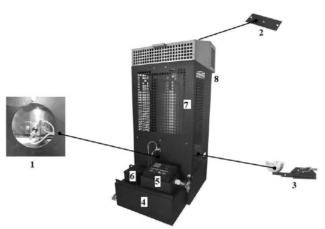 Конструкция печи на отработке MTM 17-33 кВт   Фото-2
