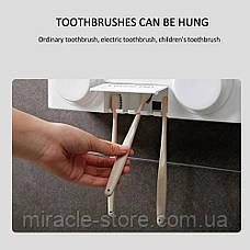 Дозатор зубной пасты автоматический держатель зубных щеток держатель фена, фото 3