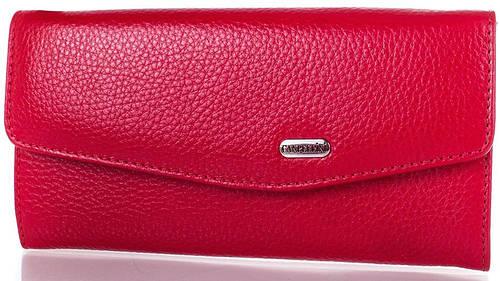 Оригинальный  женский  кошелек из натуральной кожи  CANPELLINI (КАНПЕЛЛИНИ) SHI20291-red (красный)