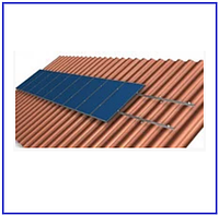 Система крепления на 10 солнечных панелей для наклонной крыши