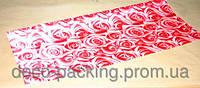 Упаковка цветочная красная Satin Rose ( 5 Ярдов)