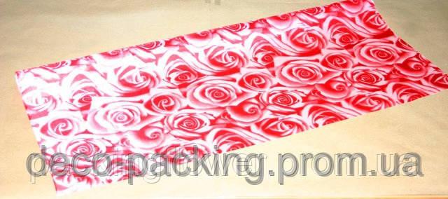 Упаковка цветочная красная Satin Rose ( 5 Ярдов) - Deco Pack в Киеве