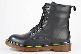 Ботинки со шнуровкой Berkonty 3868 черные кожа