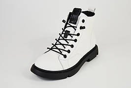 Ботинки кожаные Berkonty 50582 белые