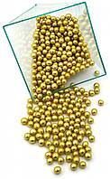 Посыпка шарики золото 5 мм, 1 кг