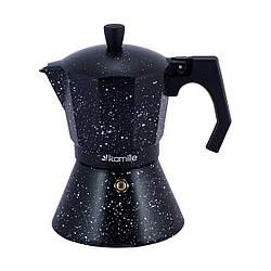 Кофеварка гейзерная Kamille на 6 чашек (300 мл) из алюминия для индукционной плиты