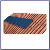 Система крепления на 40 солнечных панелей для наклонной крыши
