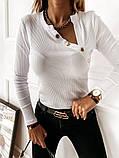 Кофточка женская рубчик 42-44, 44-46 рр., фото 3
