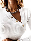Кофточка женская рубчик 42-44, 44-46 рр., фото 4
