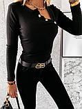 Кофточка женская рубчик 42-44, 44-46 рр., фото 5