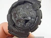 Детские часы Casio Baby G BA-110 3697B (013516) черные с серым водонепроницаемые