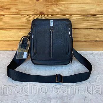 Мужская кожаная сумка месседжер на и через плечо на два отделения H.T. Leather