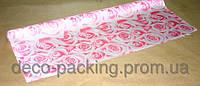 Упаковка цветочная нежно розовая Satin Rose ( 5 Ярдов)