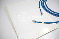Кабельный маркер - наклейки бирки для маркировки кабеля под печать на лазерном принтере 13х30 мм