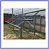 Система крепления 40 солнечных модулей на земле