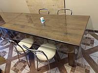 Клеенка силиконовая мягкое стекло ширина 140 см толщина 0,8 мм (800 мкм)