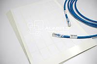 Кабельный маркер - наклейки бирки для маркировки кабеля под печать на лазерном принтере 24х35 мм