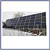 Система крепления 56 солнечных модулей на земле