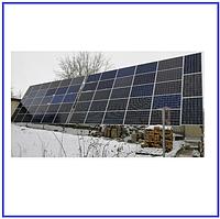 Система крепления 112 солнечных модулей на земле, фото 1