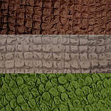 Натяжные чехлы на угловой диван и кресло турецкие без оборки жатка Бордовый Разные цвета, фото 7