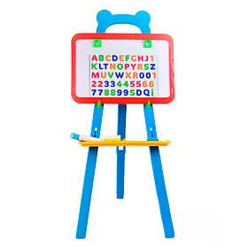 Детская магнитная доска-мольберт для рисования Маленький школярик