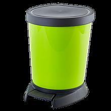 Ведро для мусора с педалью зеленое  10л