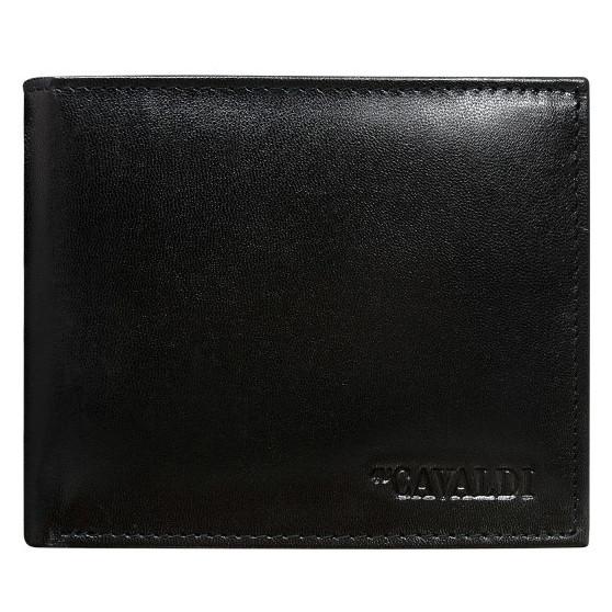 Мужское кожаное портмоне без застежки Cavaldi N992-SCR черное
