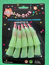 """Ногти на Хэллоуин """"Пальцы ведьмы"""" - в наборе 10шт. (длина 7см), пластик"""