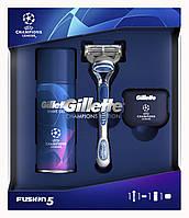 Набор Gillette Fusion 5 (бритва+гель для бритья+защитный дорожный колпачок)